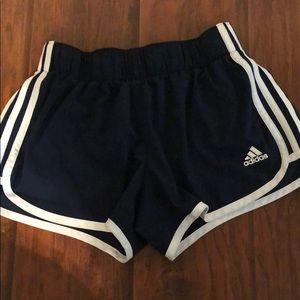 Navy Adidas shorts